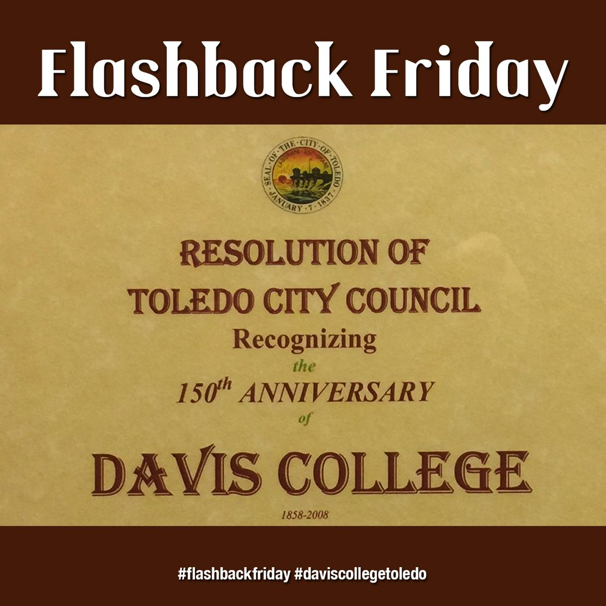 #flashbackfriday #daviscollegetoledo https://t.co/MhOSSTZOwB