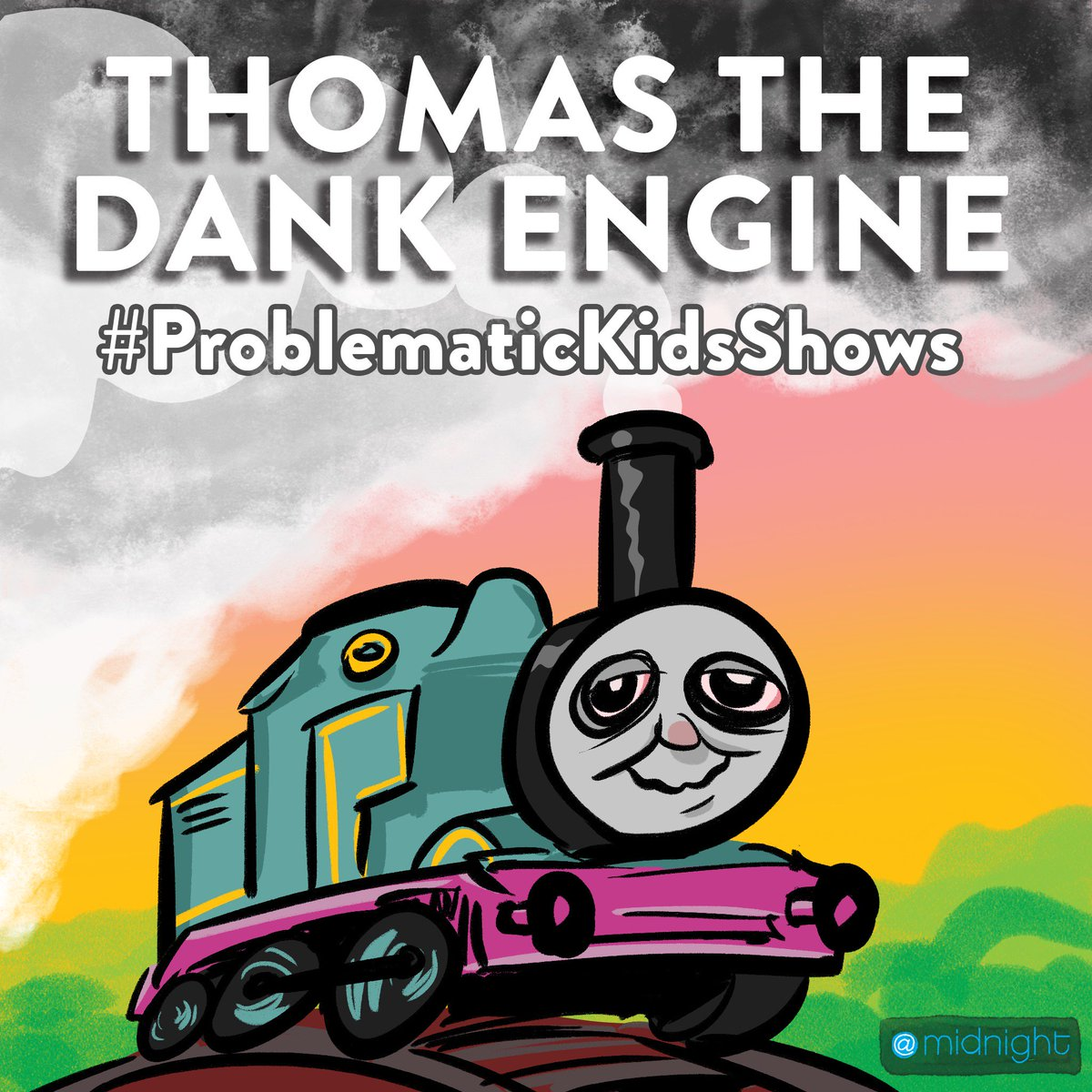 All aboard! #ProblematicKidsShows @midnight https://t.co/qsvgpLECAG