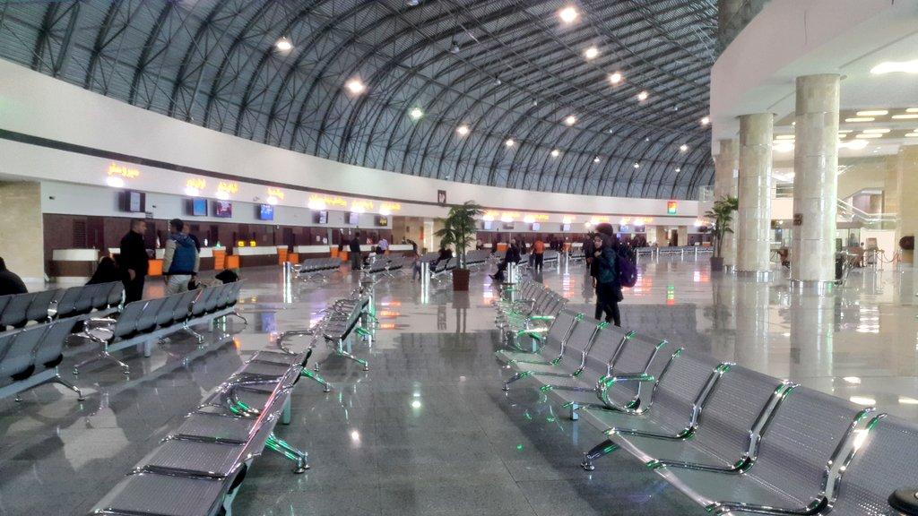 Ceci n'est pas l'Aéroport Ali Reza ou un truc du genre, mais juste le terminal de bus de #Tabriz