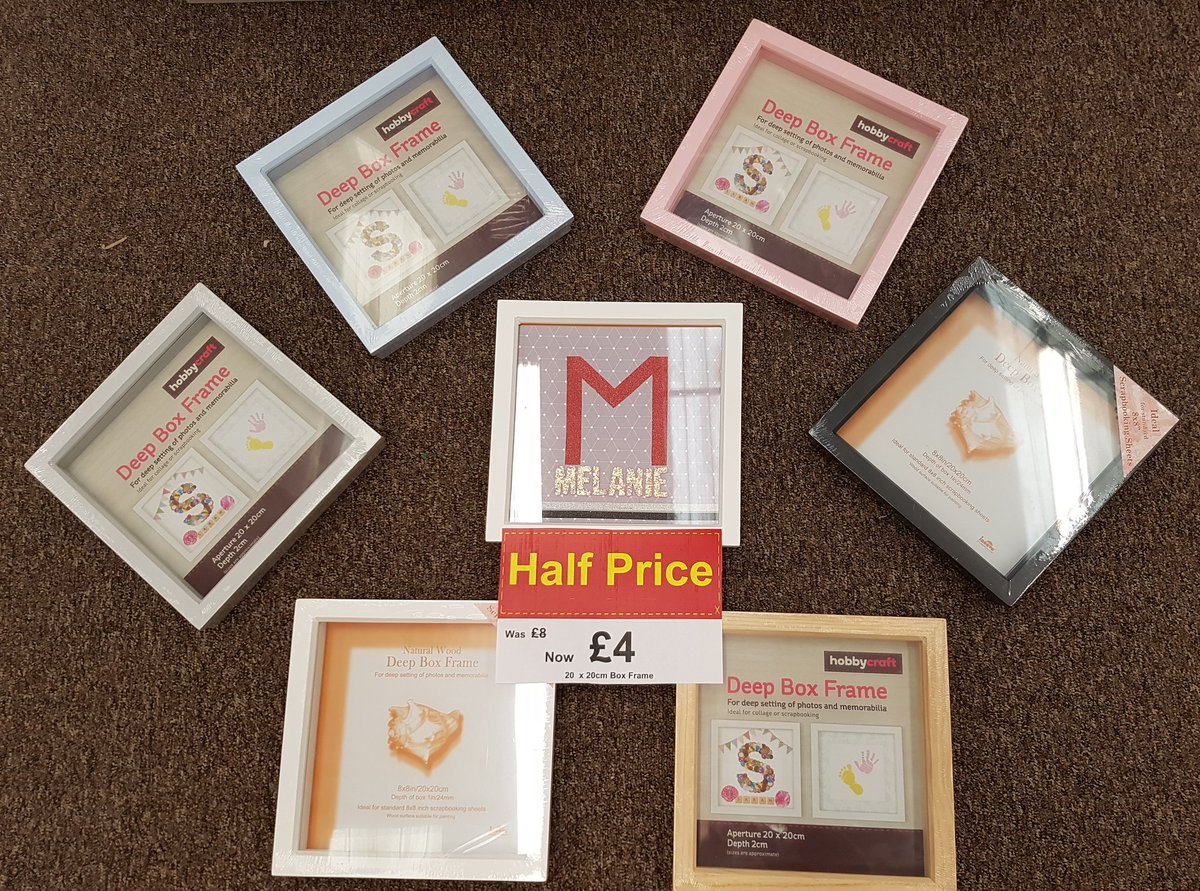 d31ac146203 Hobbycraft Watford On Twitter Our Box Frames Are Half Price