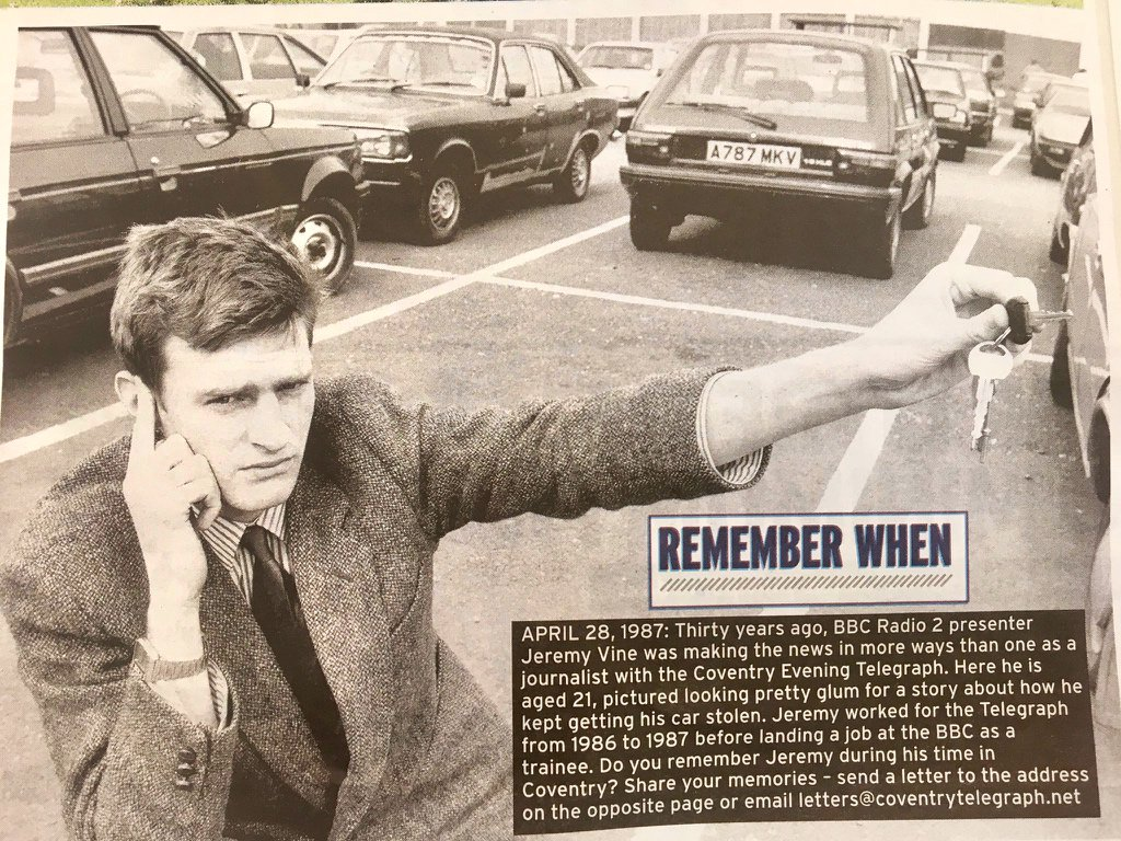 Look how miserable I was 30 years ago. Pic in today's @covtelegraph (via @adventpr) https://t.co/PFbg7IS3vi