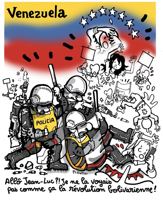 MANIFESTATIONS AU VENEZUELA: 24 morts.  ( Le dessin de L'Express)
