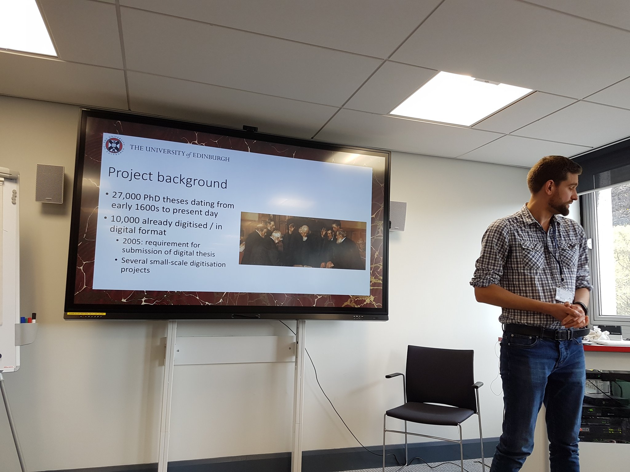 .@GWillshaw up first on the PhD theses digitisation project allowing global access to this unique collection #uoeOKN https://t.co/oiyLQf9GXg