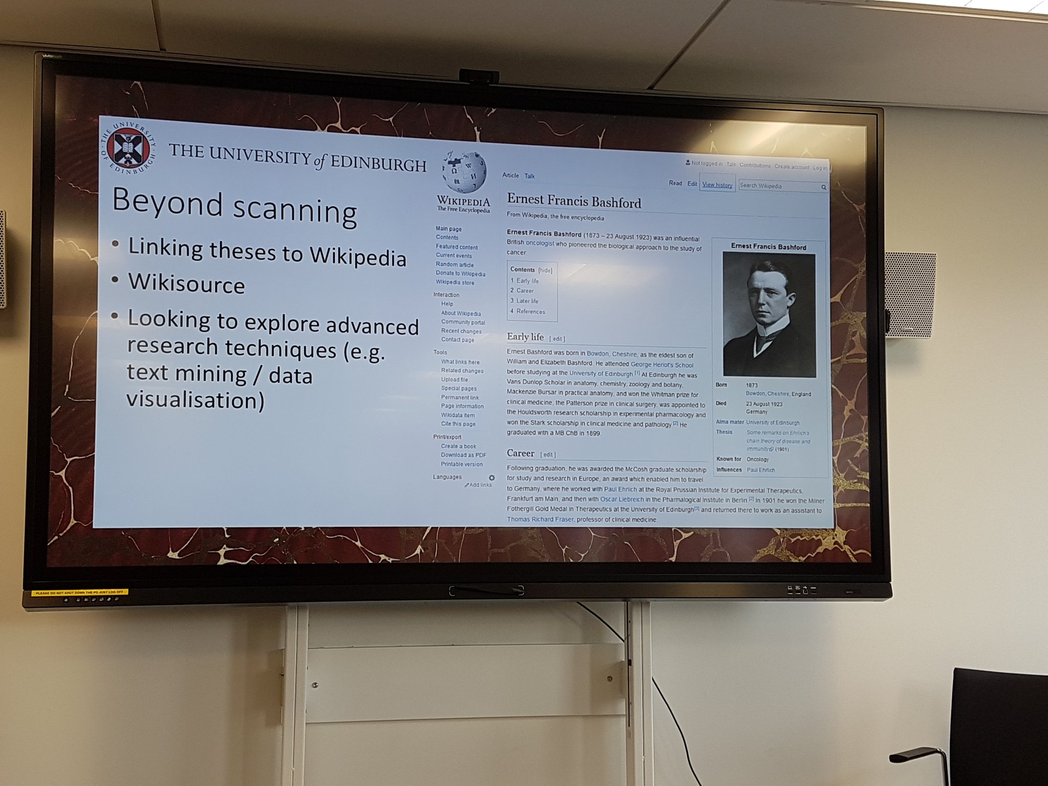 Knowledge is most useful when it is used; not just static but engaged with, built upon. Linking to notable PhD theses from Wikipedia #UoEOKN https://t.co/R1qd05Zs2o