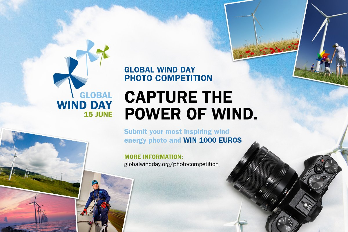 Submit your most inspiring #windenergy photos and win 1000 euros.  https://t.co/f8j4rz9DW8 … #photography #competition #globalwindday