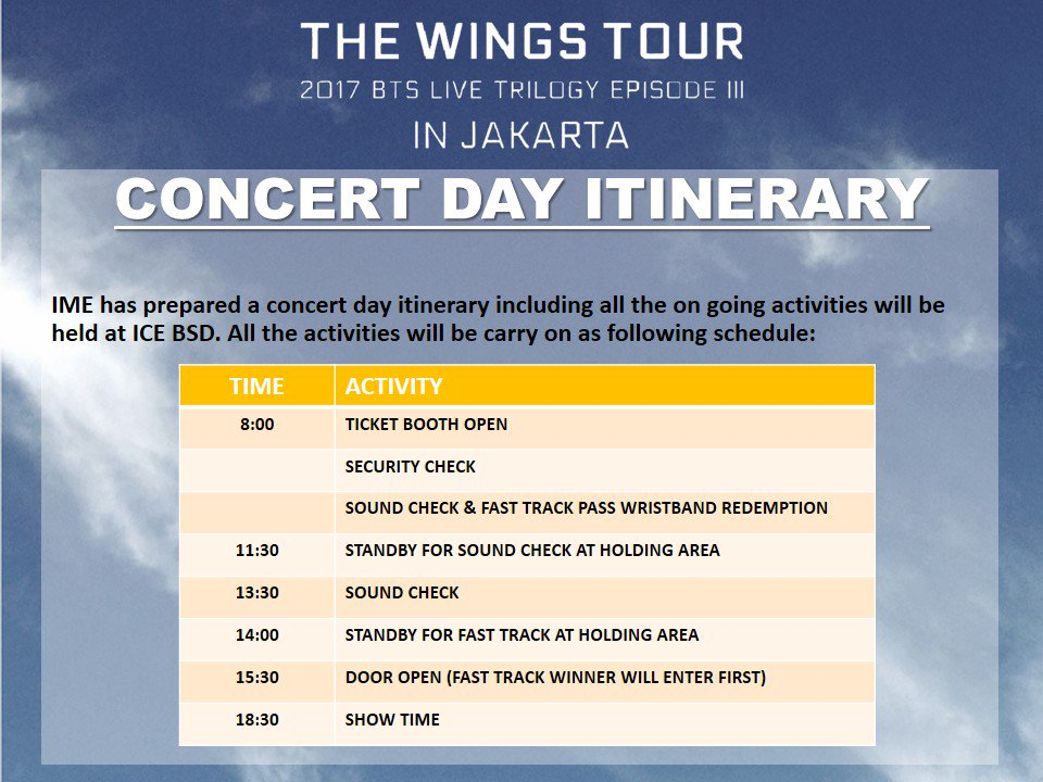 Ime Id On Twitter Concert Itinerary For 2017 Bts Live