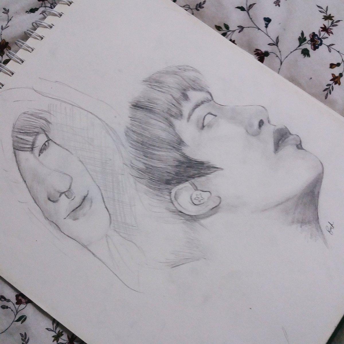Qis 💀 persona on twitter fa im really starting to love making sketches of seokjin seokjin jinfanart fa bts pic ref improving jin