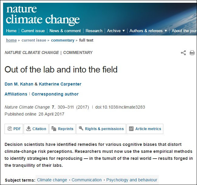 Take it outside  #scicomm #climate @NatureClimate https://t.co/Uc5rXR6okn