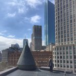 View of #hancocktower from the #rooftop of @ZephyrArchitect newest project in #boston #architecture #skyline #downtown