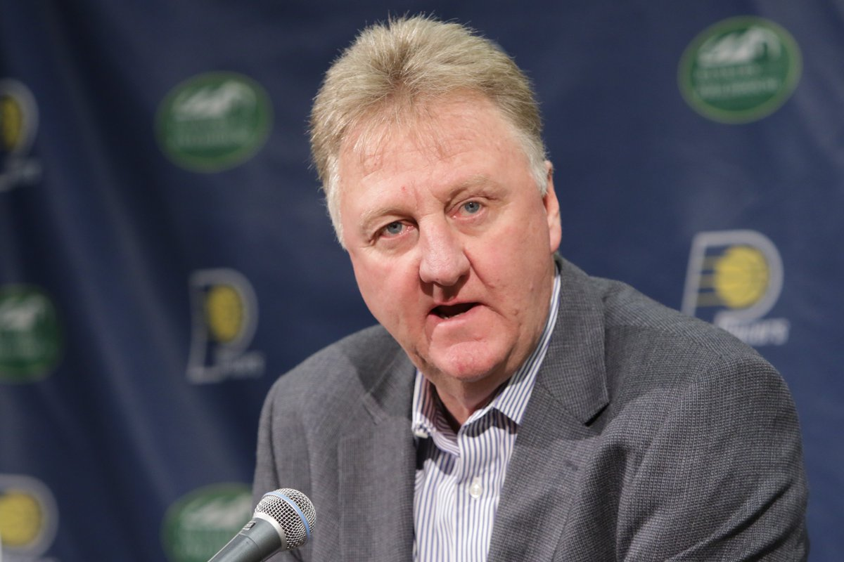 Breaking: Larry Bird is stepping down as Pacers president, per @WojVer...