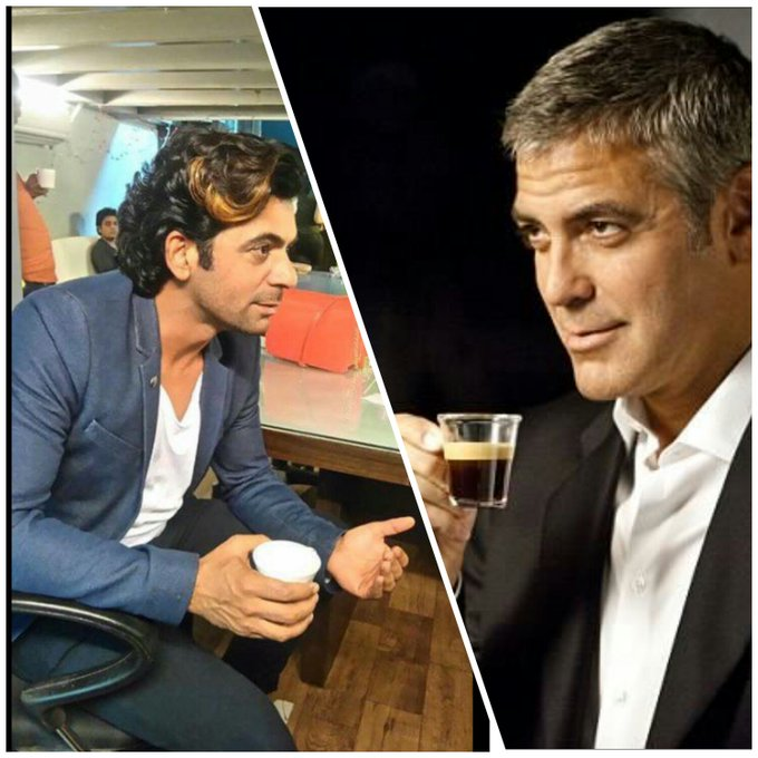 This guy's French girlfriend thought Sunil Grover looks like George Clooney! Grover's reply's has everyone in splits! C-g4NAiUQAAvgi4