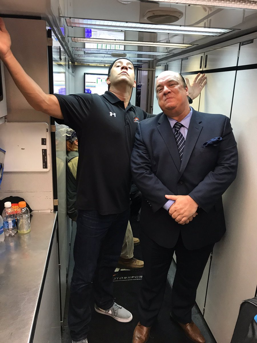 Hanging with my new manager @HeymanHustle ... @WWE #ECW https://t.co/ftxXzzX3b8