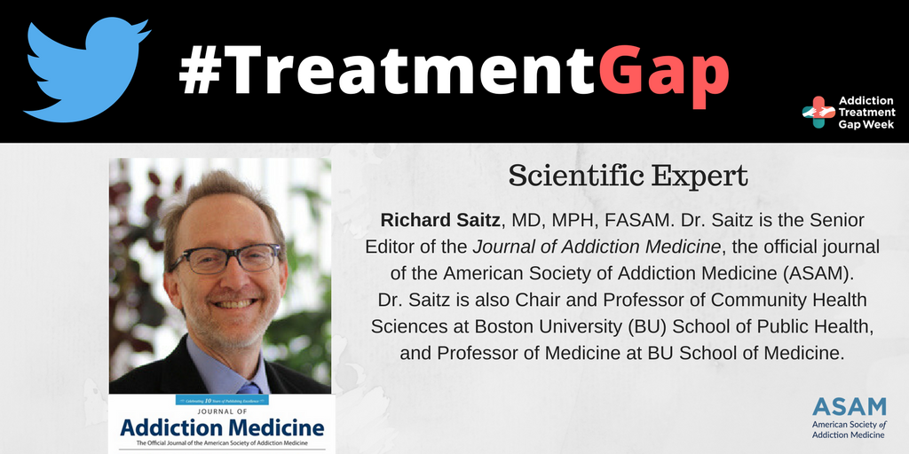 Thanks to all those attending. Our chat today has two scientific experts: ASAM's expert is Dr. Richard Saitz (The SR. Editor of @JAM_ASAM) https://t.co/6UDDsMImA3