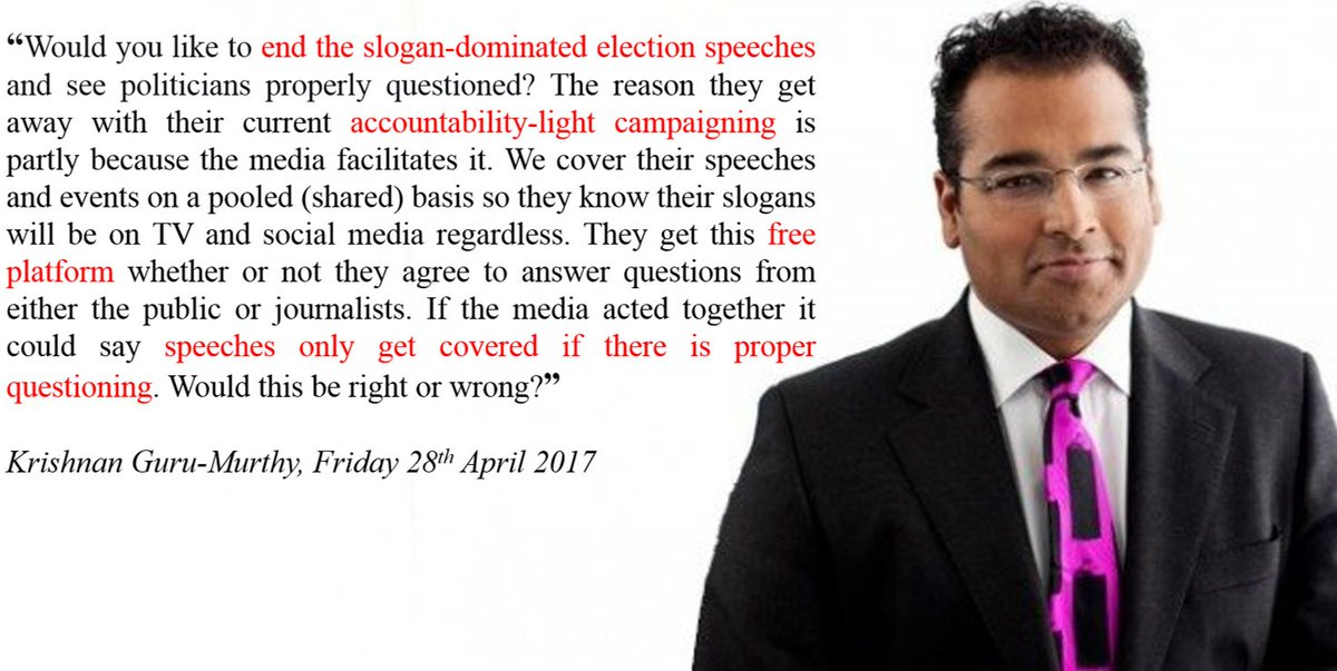 Channel 4 News Anchor, @krishgm, has a proposal. Here it is. Retweet it if you agree with him.......