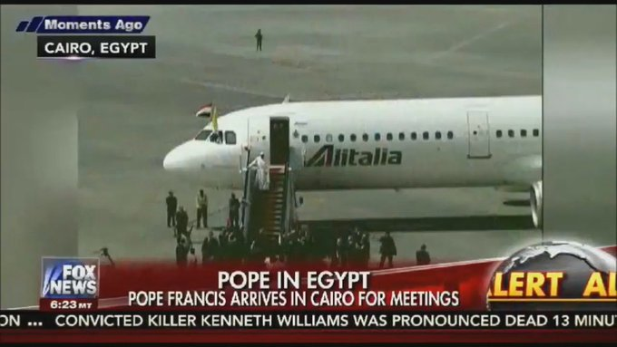 FOX NEWS ALERT: Pope Francis arrives in Cairo for historic 2-day visit to Egypt