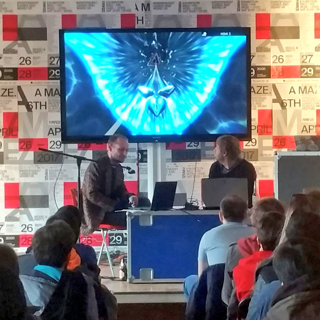 Devolution 3 - @csongorb in Conversation with  Brian Gibson about the 7 year development of Thumper #AMaze2017 https://t.co/kATsBhK68z