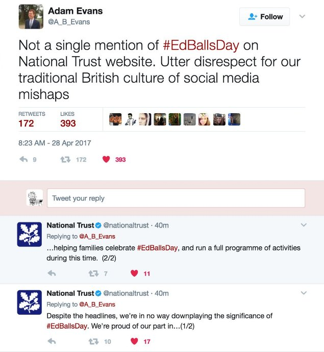 Totally right to call out the @NationalTrust on its failure to mark #edballsday, but what a response from them https://t.co/0OfIdnefx5