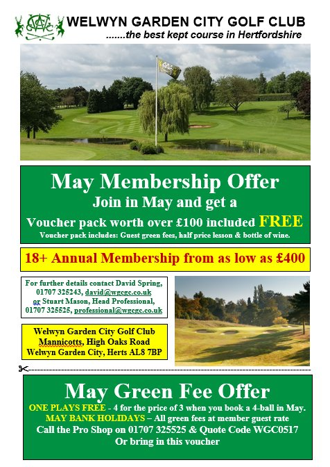 BANK HOLIDAY GREEN FEE OFFER   Play Here On May Bank Holiday U0026 Pay Memberu0027s  Guest Green Fee Rates All Day   Book With Pro Shop 01707  325525pic.twitter.com/ ...
