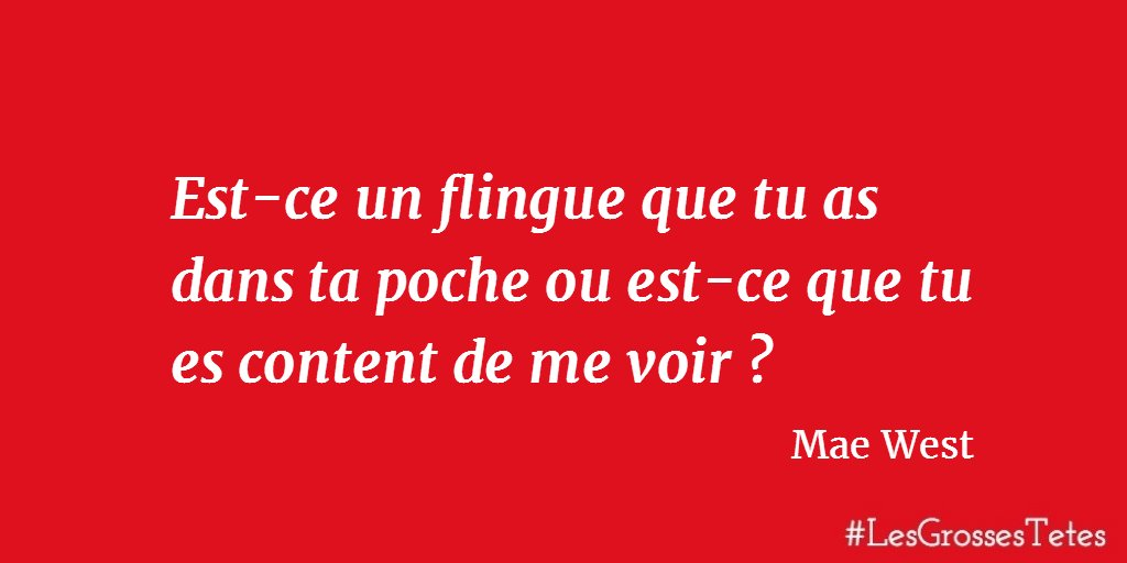 Haut les Mains ! #citation #LesGrossesTêtes <br>http://pic.twitter.com/JCZhTQDlaP