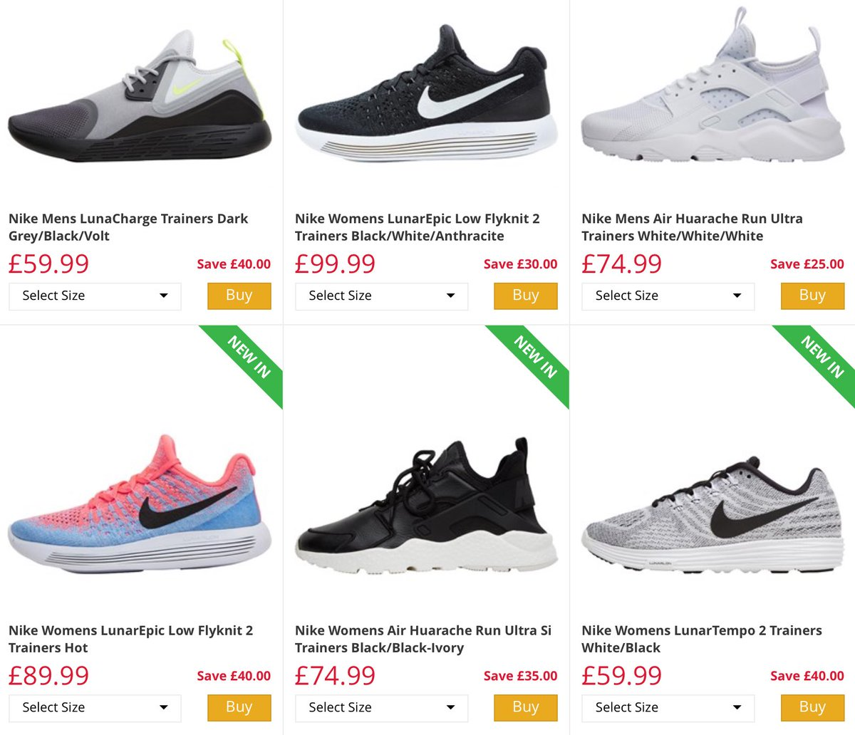 m and m direct mens nike trainers