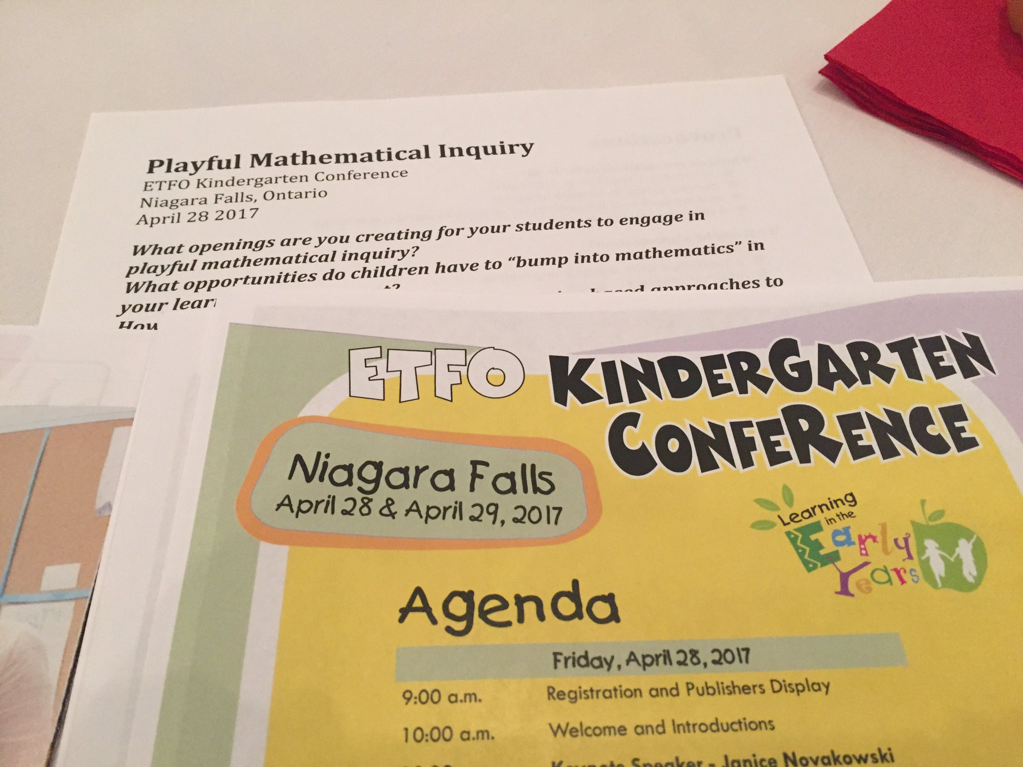 Getting started with Janice Novakowski and Playful Math Inquiry. #etfopley @ETFOPLEYKto3 https://t.co/3GMhV5T796