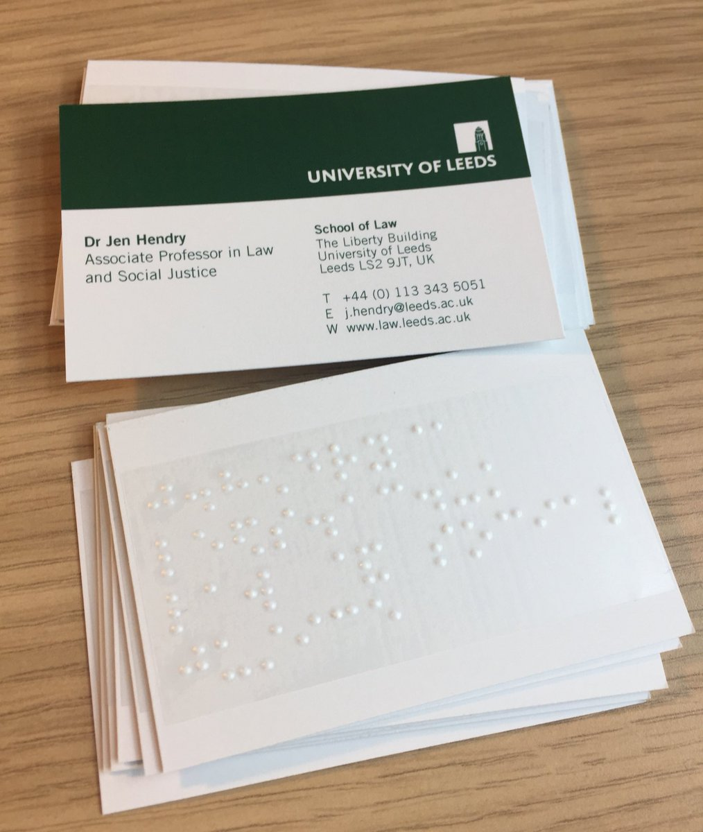 Braille stickers for business cards best business cards jen hendry on twitter our fabulous braille business card magicingreecefo Choice Image