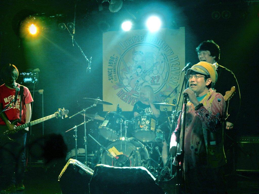 ひんでんさんは司会。バンド「1969」企画LIVE。@ヘブンズドア。