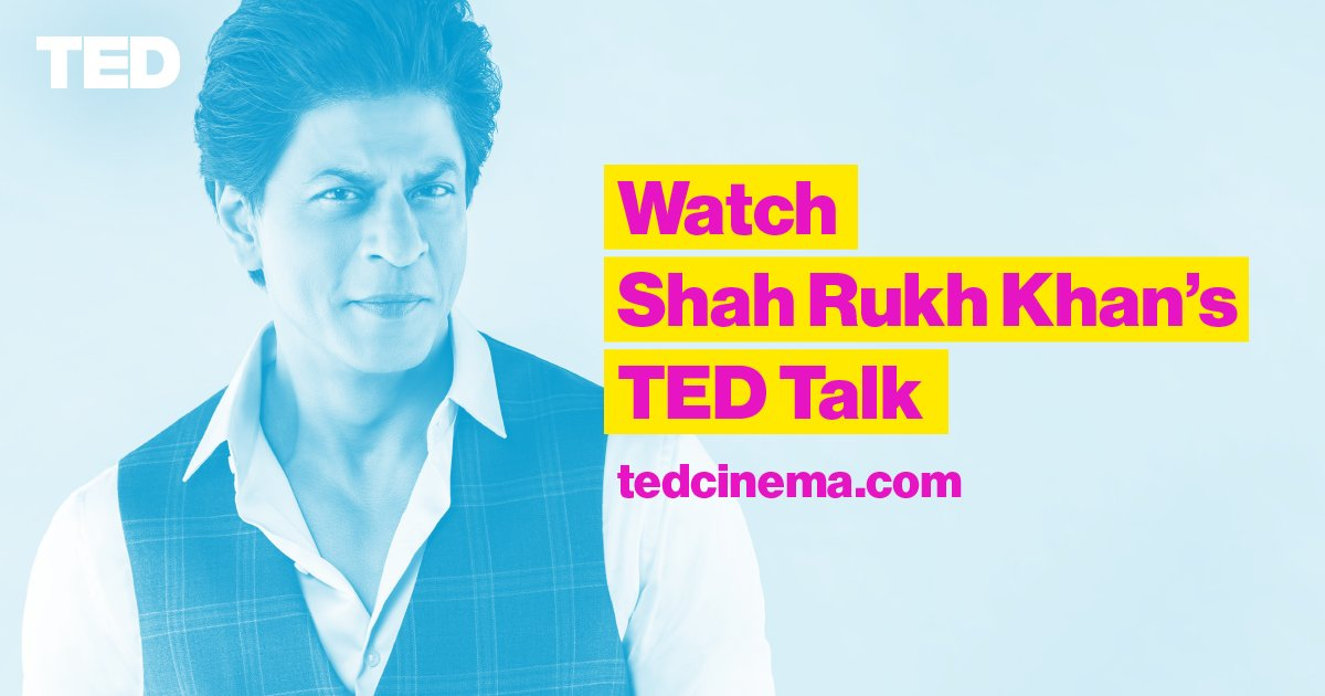 watch shah rukh khan 39 s ted talk live in cinemas before it goes up online go to for tickets. Black Bedroom Furniture Sets. Home Design Ideas