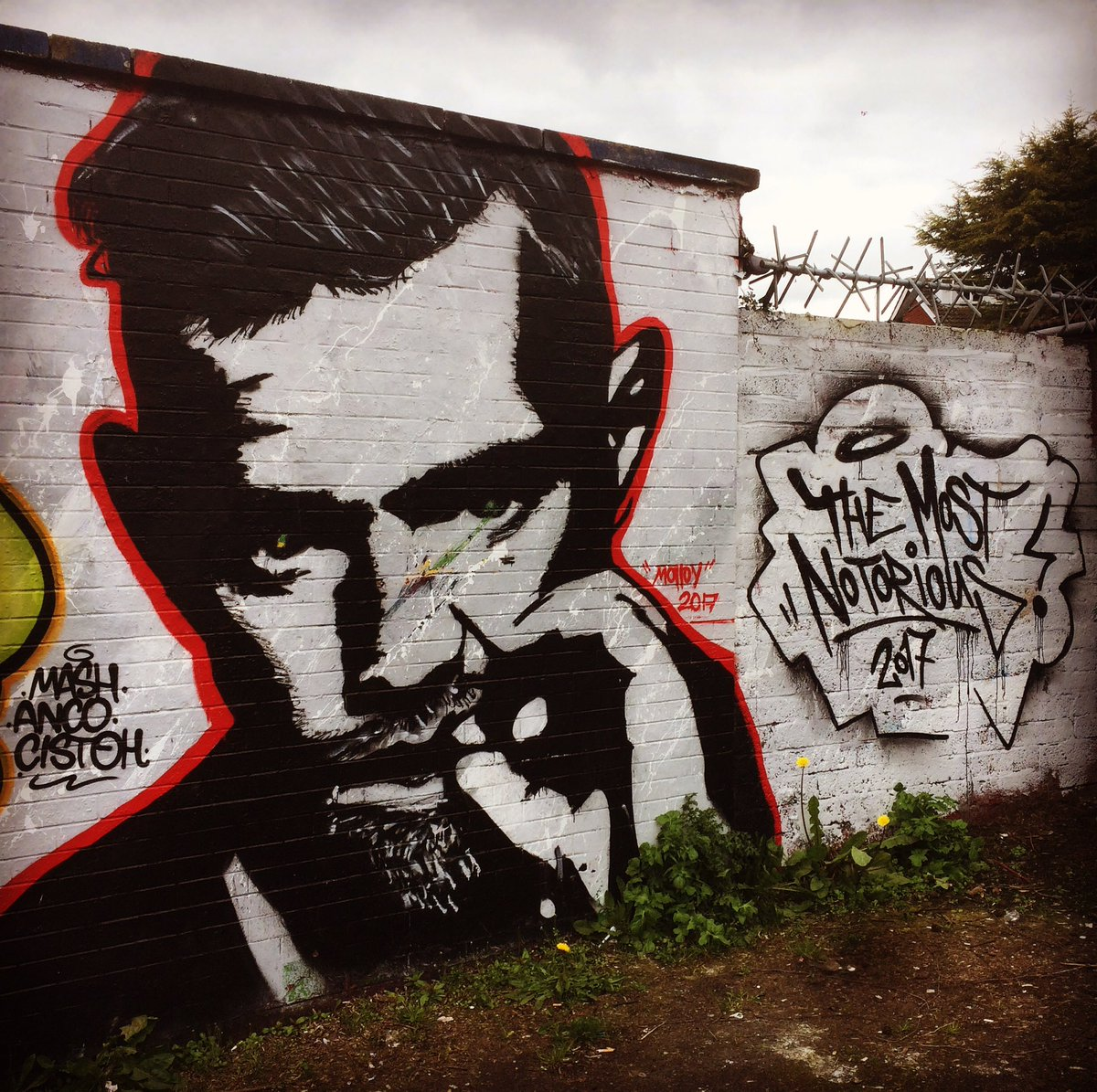 Just spotted this in Belfast! @TheNotoriousMMA #ConorMcGregor https://t.co/5j0xqQRHHz