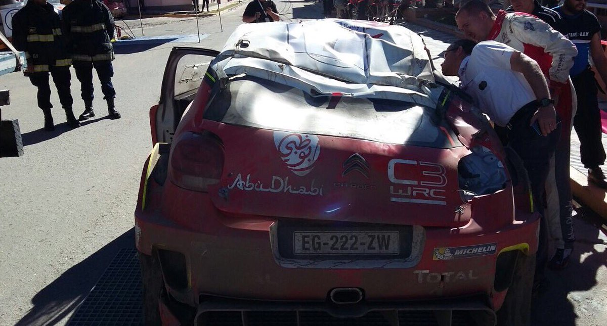 Así quedó el Citroen de Kris Meeke / Meeke's car doesn't look good