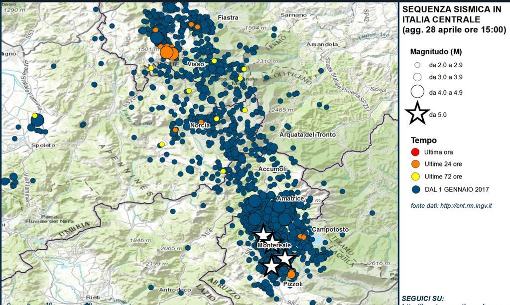 Terremoti in Italia centrale: aggiornamento sequenza sismica di INGV
