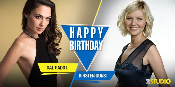 Happy birthday to Wonder Woman, Gal Gadot and the beloved Mary-Jane, Kirsten Dunst! Send in your wishes soon!