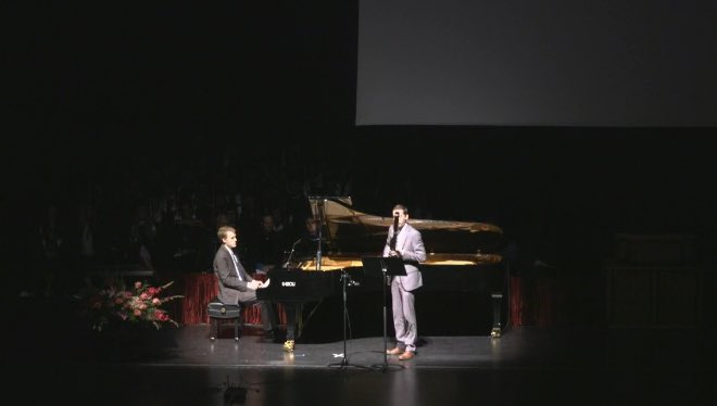 Scott Self (bassoon) and Christopher Madsen (piano) play Récit Ethan Allegro by Nöel Gallon! #CFACGrad https://t.co/85vFDpb4NQ