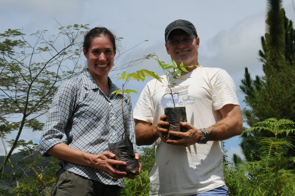 Happy #ArborDay17 from Dr. Louis &amp; Dr. Frasier! Their efforts are #SavingBiodiversity in #Madagascar, one #tree at a time @arborday<br>http://pic.twitter.com/5z3Nea2qV1