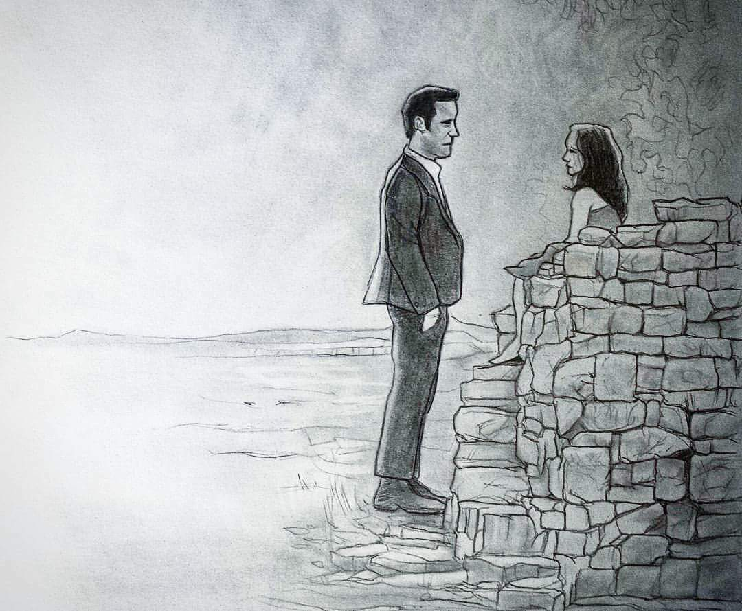 Leftoversfanart pencil drawing of the most emotional moment in theleftovers theleftovershbo theleftovershbo hbo justintherouxpic twitter com