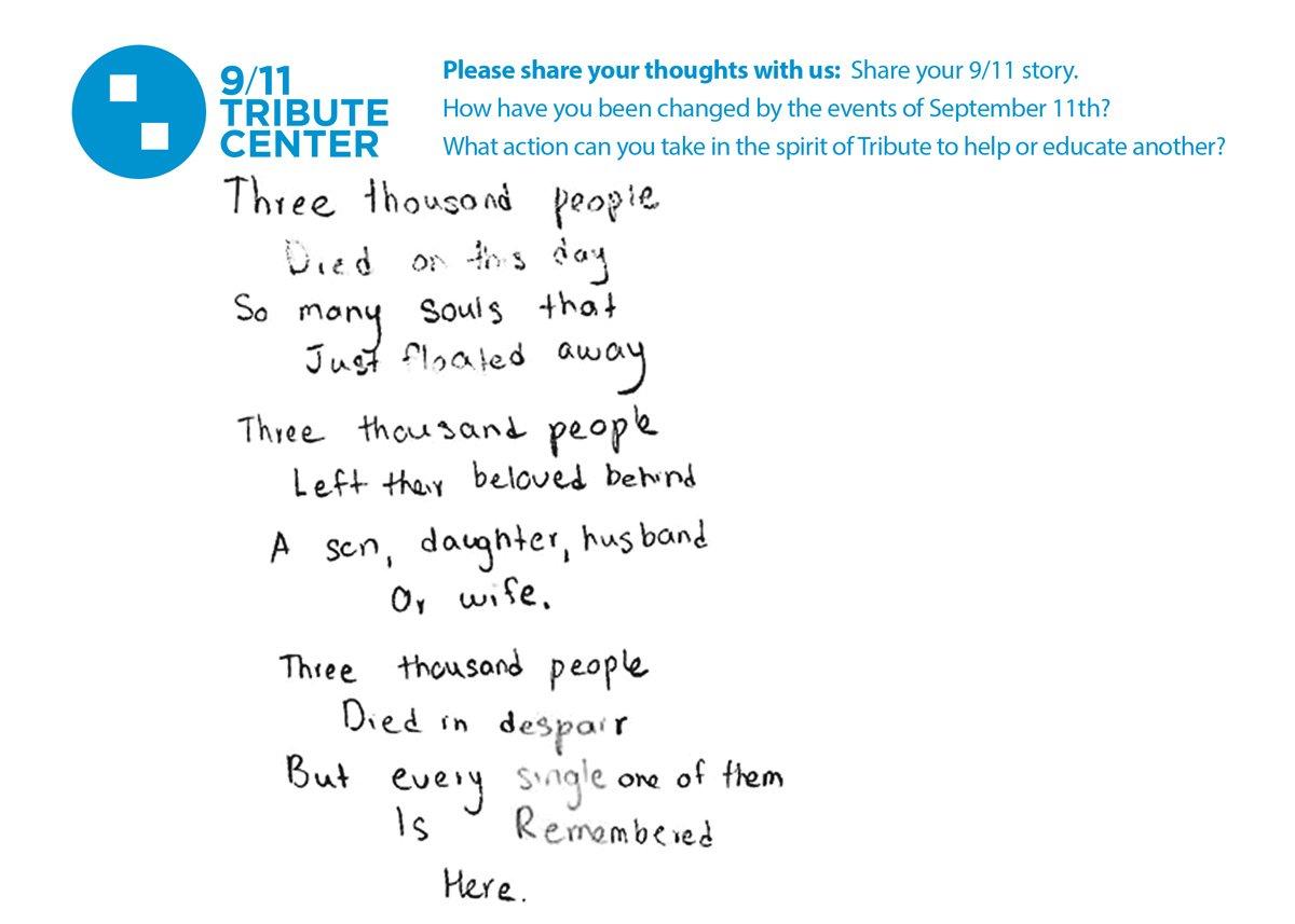 9 11 tribute museum on twitter for poeminyourpocket day we re