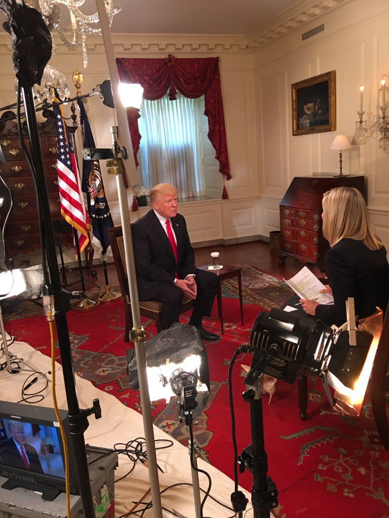 Behind the scenes of my conversation with President Trump #first100