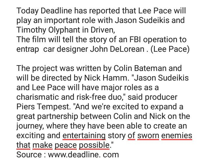 Lee Pace Italy 🇮🇹 on Twitter: