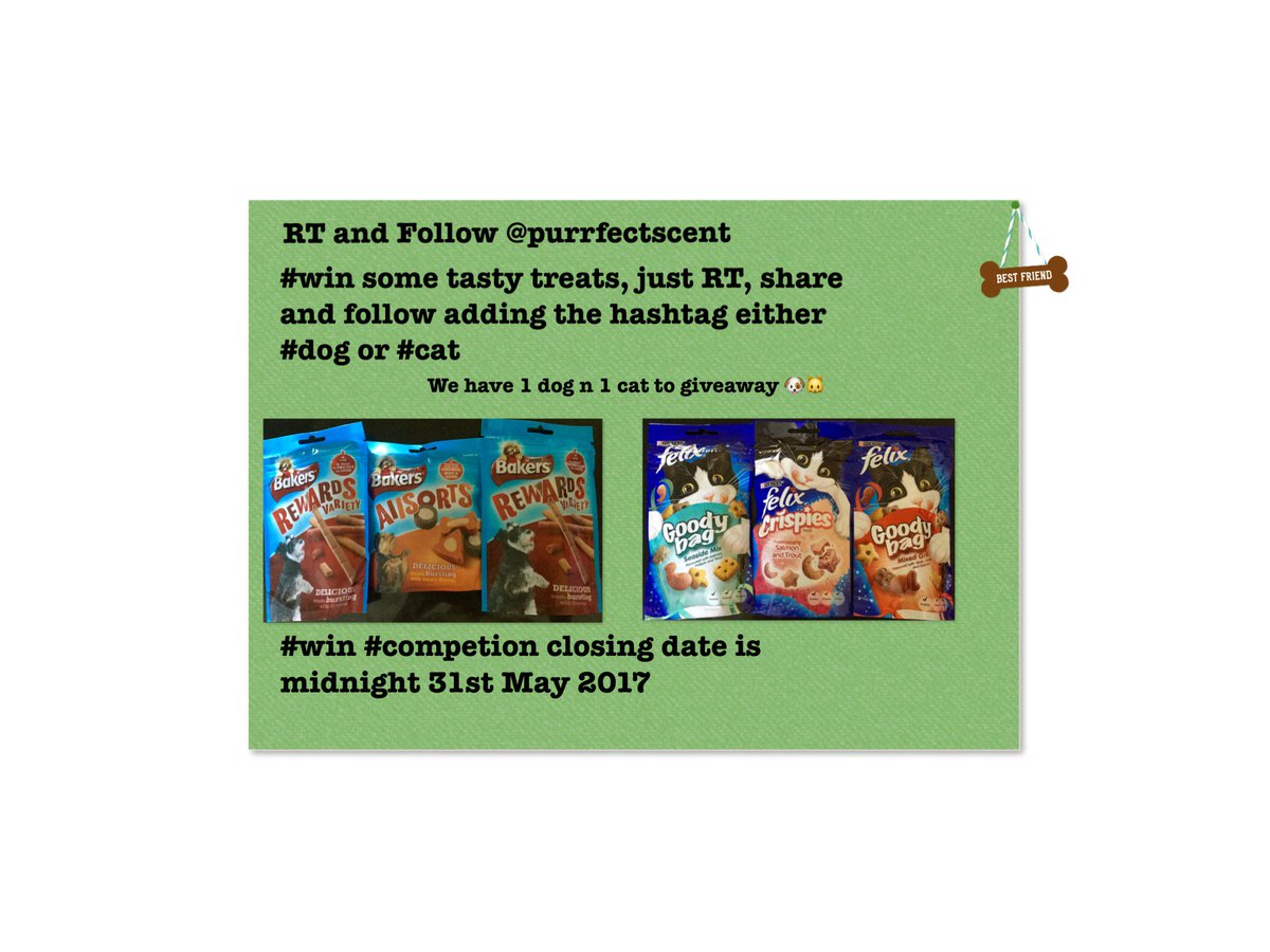 Our #comp is now open. #RT, #Share n #Follow to #win some tasty treats using #dog or #cat. Closes midnight 31/05<br>http://pic.twitter.com/HDNO56nQRY