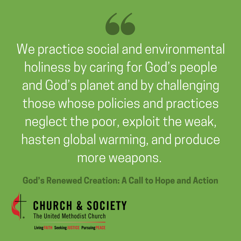 Practice social and #environmental holiness by caring for God's people and God's# #planet. #ClimateJustice #CreationCare https://t.co/HkJP1DXXPL