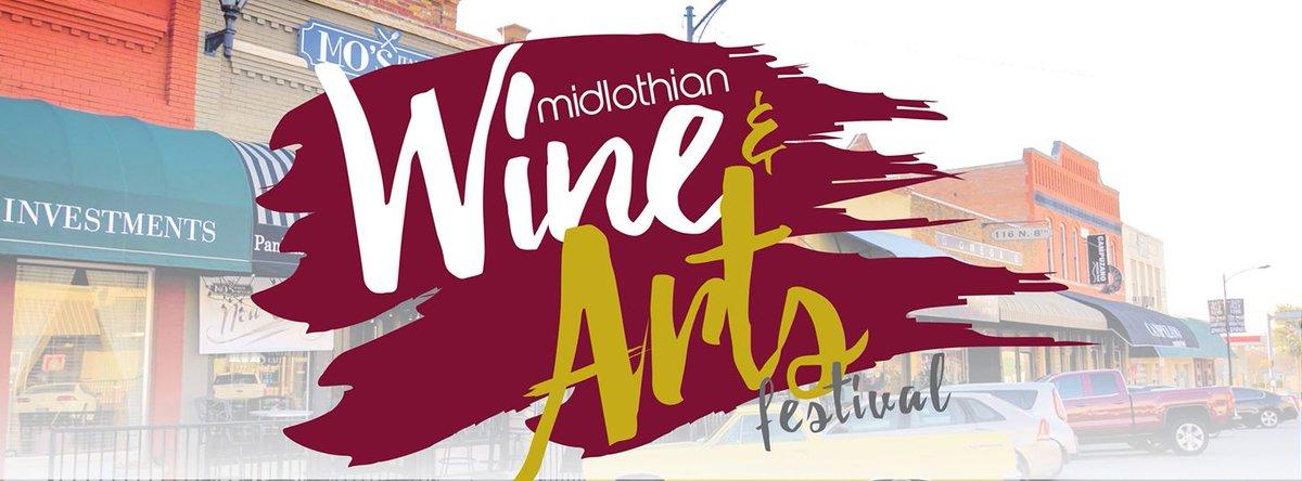Who is joining us in Midlothian tomorrow?! #WineAndArtsFestival #Midlothian #TxWine #Wine #Texas pic.twitter.com/Iaa6Az7NSX
