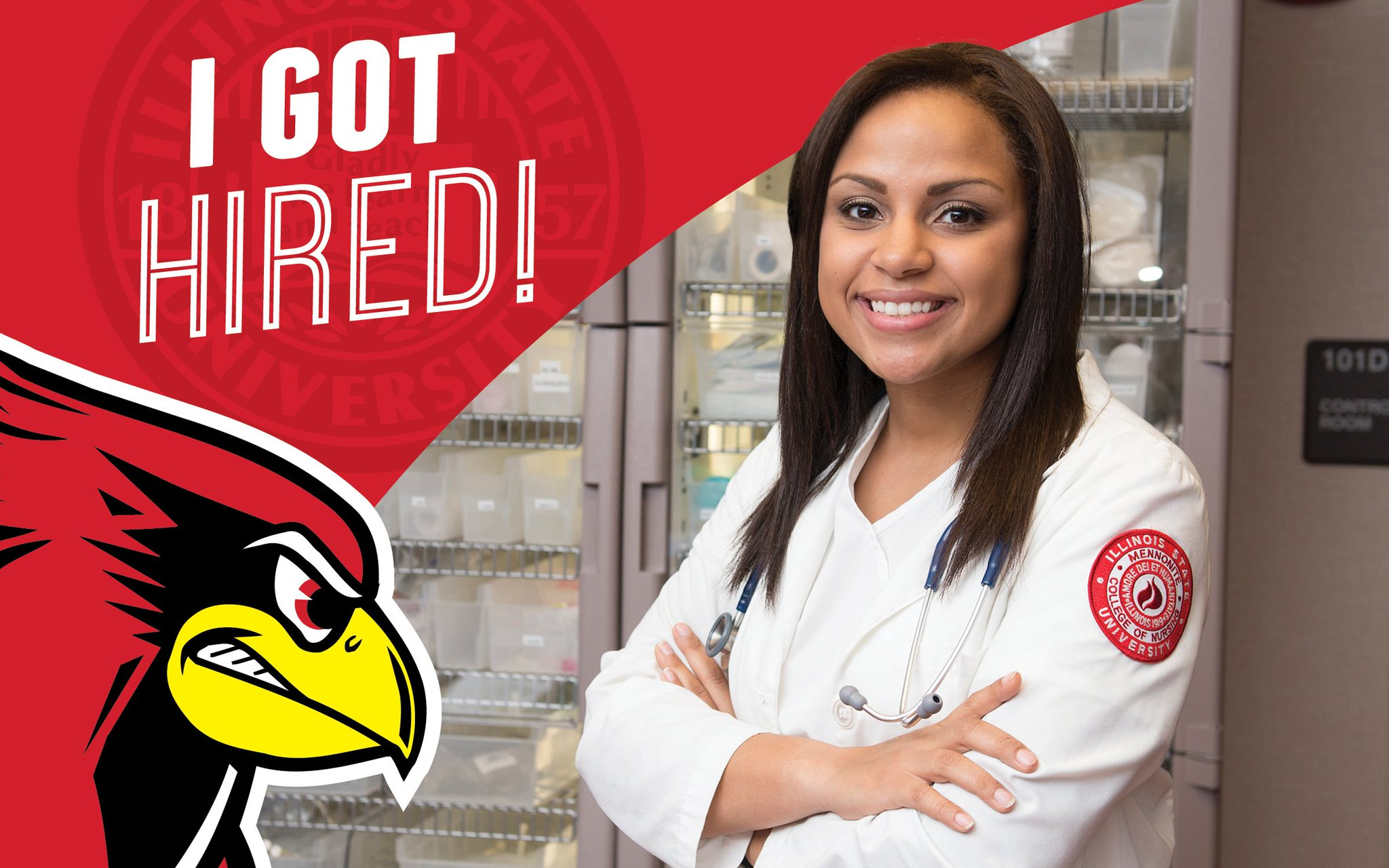 Tianna accepted a position at Memorial Medical Center & will return to ISU in the fall as a grad student. #STATEYourCareer https://t.co/4TPlUIqUEw