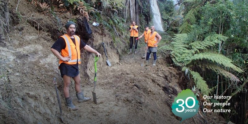 2015: Cleaning up tracks in Whanganui, after record floods in June caused the closure of local tracks: https://t.co/ux8TMeJYKc #DOCturns30 https://t.co/ifYokMDXFq