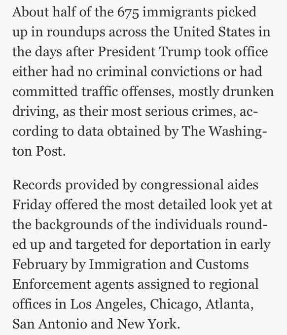 Trump said immigration raids after he took office targeted 'very, very hardened criminals.' Turns out that's untrue https://t.co/paf5Z1Fot2