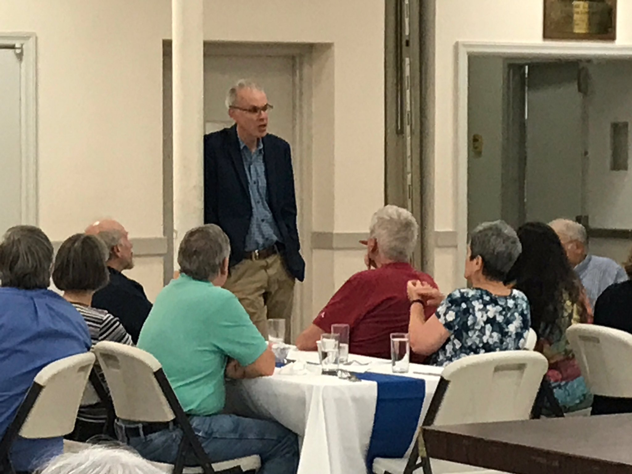 """.@billmckibben """"happy to be with his fellow United Methodists"""" ahead of the #climatemarch at Caretakers conference https://t.co/CSfWpNYwZ1"""