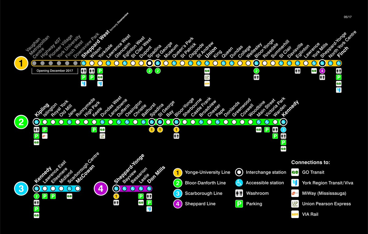 Subway Map Ttc.Ttc Design On Twitter Our New Subway Maps Include Extra Helpful