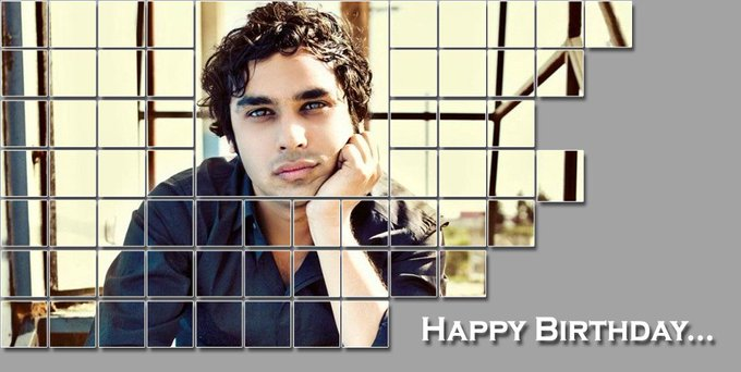 Here\s wishing \The Big Bang Theory\ star Kunal Nayyar a very Happy Birthday.