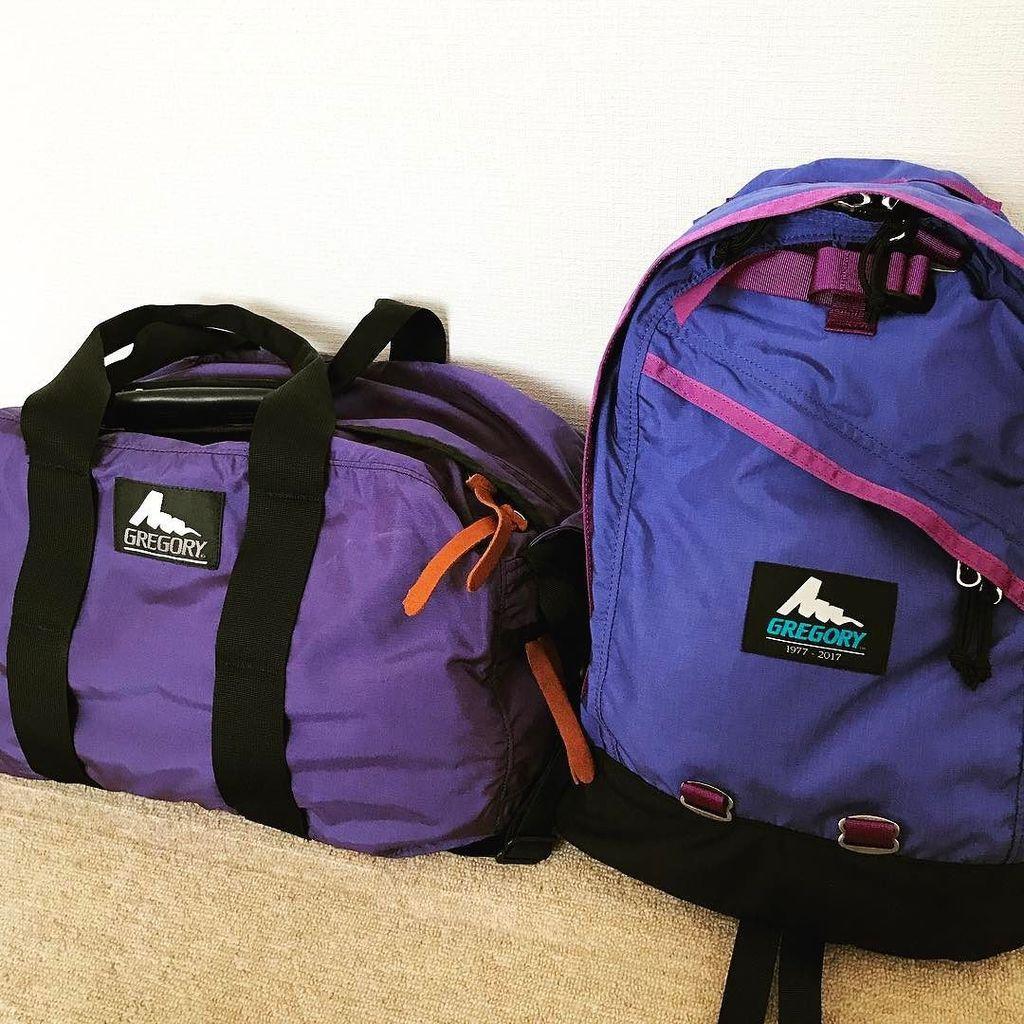 グレゴリー! 帰省に使う荷物がバッチリ収まる。  #グレゴリー #Gregory #gregory40th #gregorydaypack