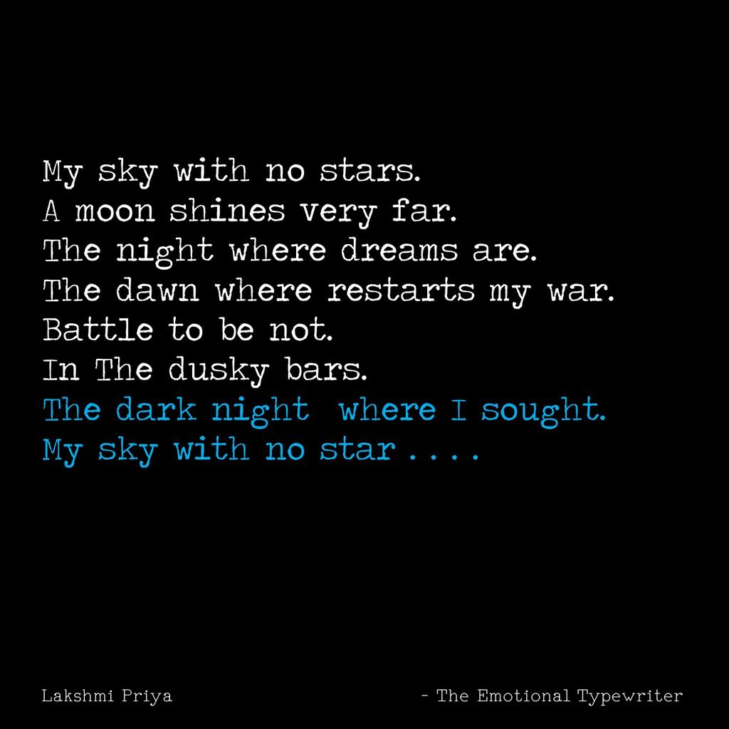 Emotionaltypewriter On Twitter My Sky With No Stars