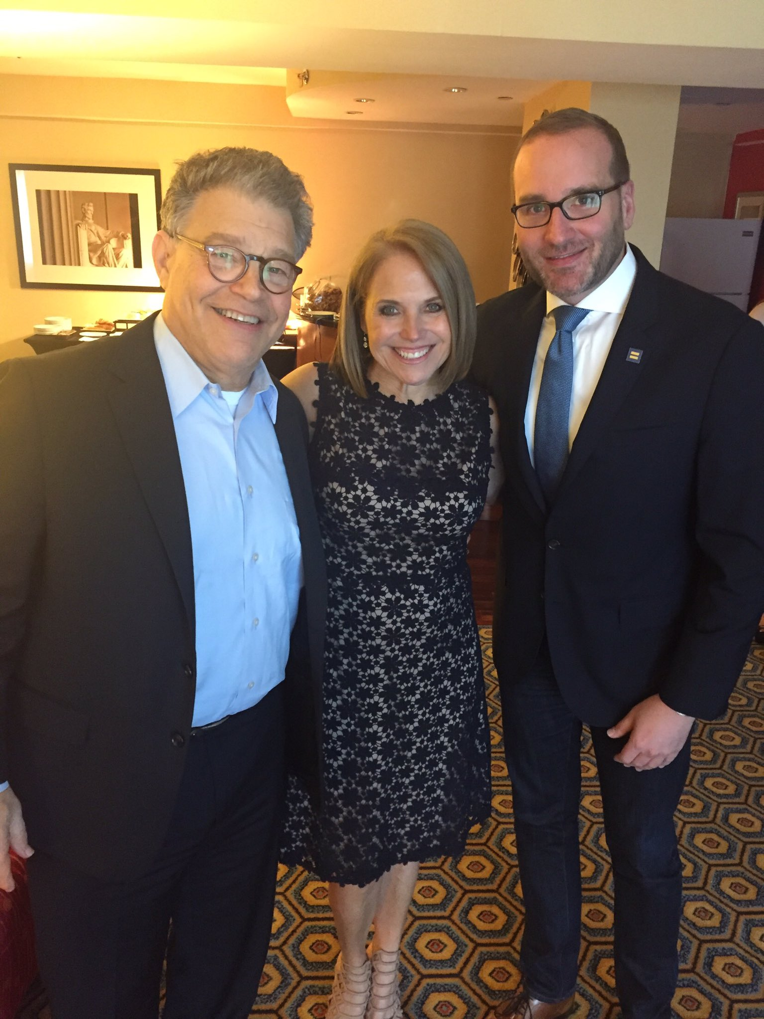 Tonight at the @HRC's #TimeToTHRIVE Conference with @alfranken and @ChadHGriffin https://t.co/gbFWZqZ8kH